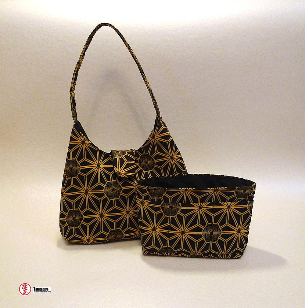 handmade bags with authentic vintage Japanese fabrics Tabitabiya