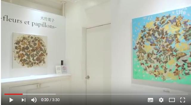 """vidéo sur l'artiste Hiroko otake """"fleurs et papillons"""""""