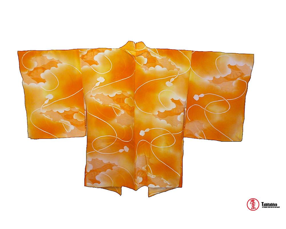 Ebaori veste haori, haori, veste kimono,qui arbore un dessin Tabitabiya boutique japonaise