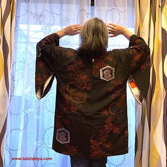 VESTE KIMONO FEMME ANTIQUE TAISHO ROMAN | HAORI | HAORI POUR FEMME
