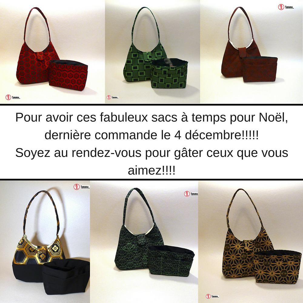 TABITABIYA's original handmade bags with vintage Japanese fabrics
