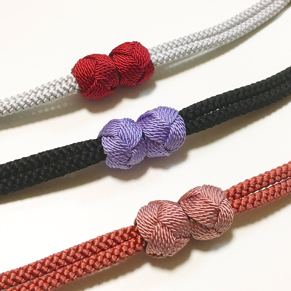 haori himo, cordes pour vestes kimono, haori, qui se ferment par un aimant