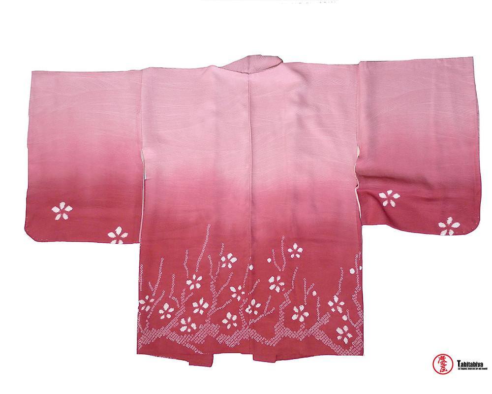 shiboribaori, haori, veste kimono de style shiboriTabitabiya boutique japonaise
