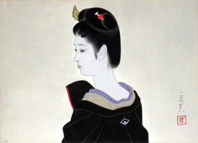 Une autre oeuvre de Shimura Tatsumi 志村立美, intitulée Yakaïmaki 夜会巻き
