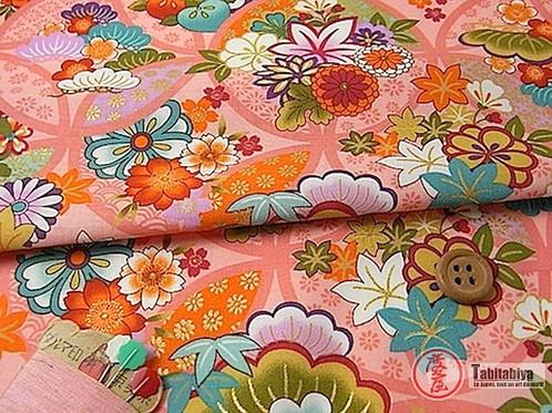 Magasin Japonais En Ligne : tissu japonais en coton tabitabiya boutique japonaise en ligne ~ Preciouscoupons.com Idées de Décoration