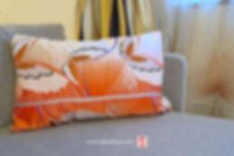 Housse de coussin en tissu japonais tabi