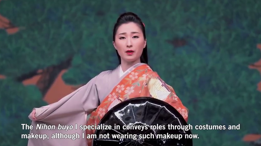 vidéo Youtube sur la danse japonaise Nihon-Buyo