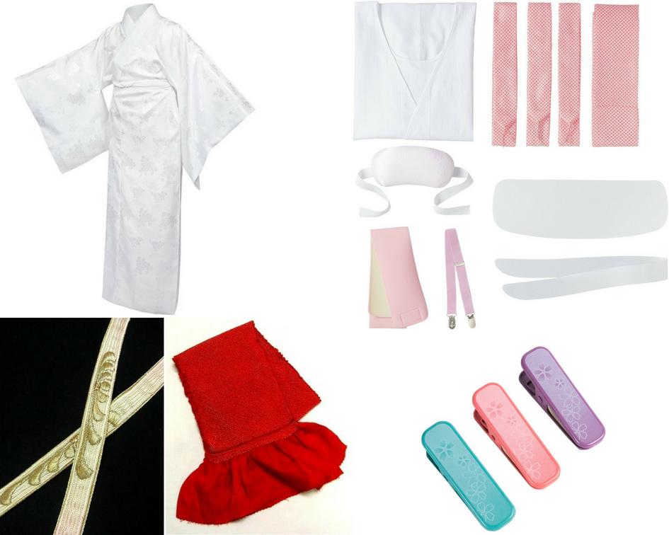 ensemble des accessoires pour  kimono kitsuke