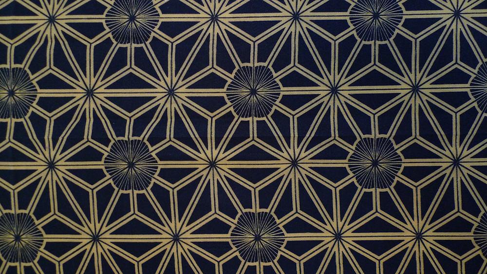 motif japoanis feuille de chanvre Asanoha Tabitabiya