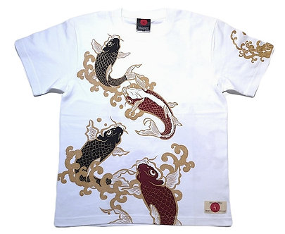 T-shirt Japon homme carpes