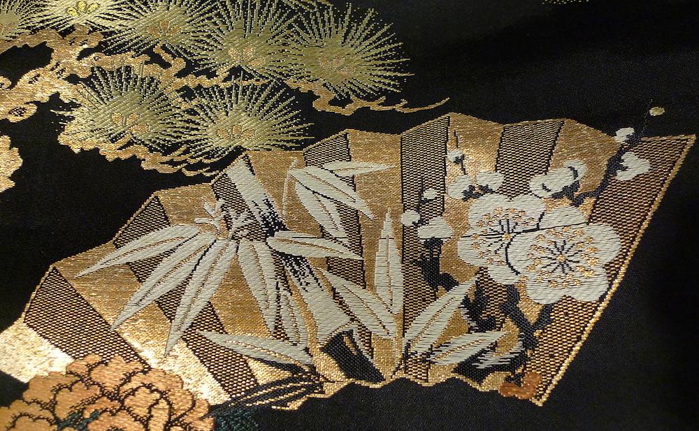 Shochikubai motif japonais pour le Nouvel An pin bambou fleurs de prunier