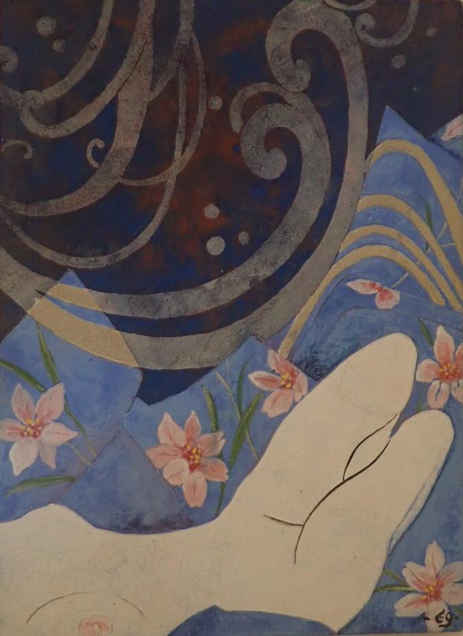 oeuvre de l'artiste Valérie Eguchi artiste nihonga