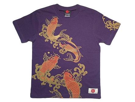 T-shirt japonais hommes carpes