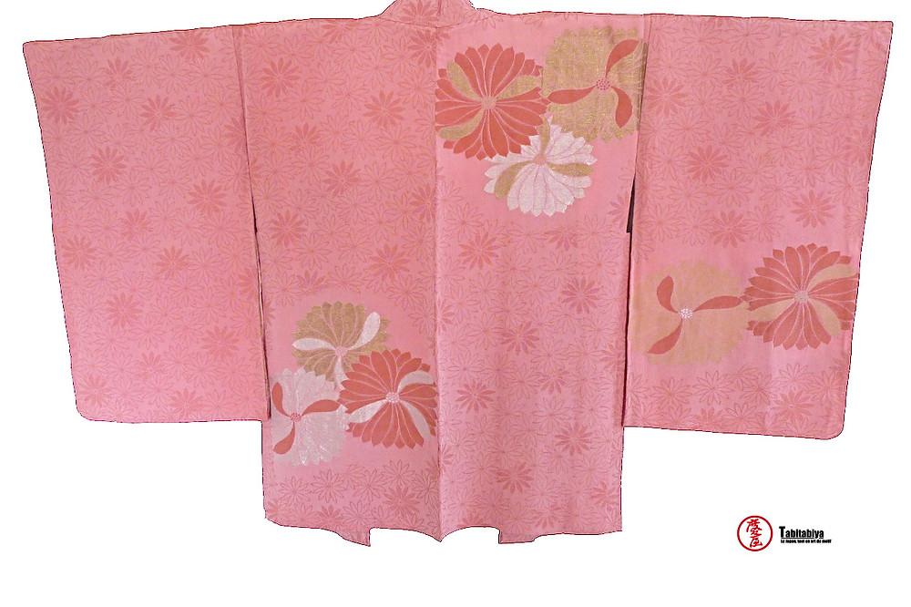 Komonbaori, haori, veste kimono de style komon Tabitabiya boutique japonaise