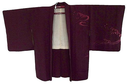 veste kimono femme prune