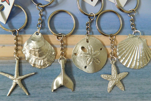 SMALL PEWTER KEYCHAINS