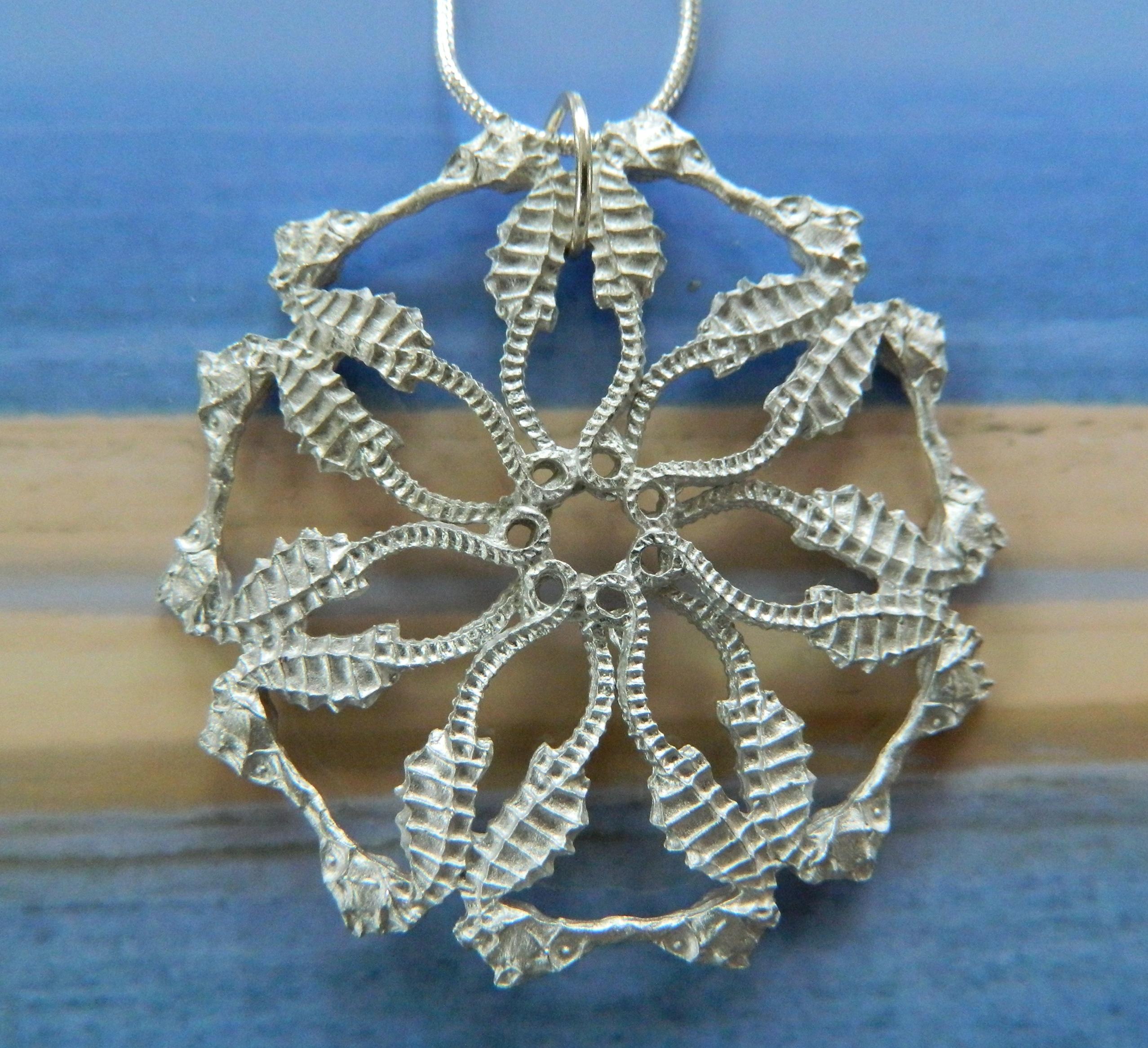 Mini Seahorse Circle Necklace