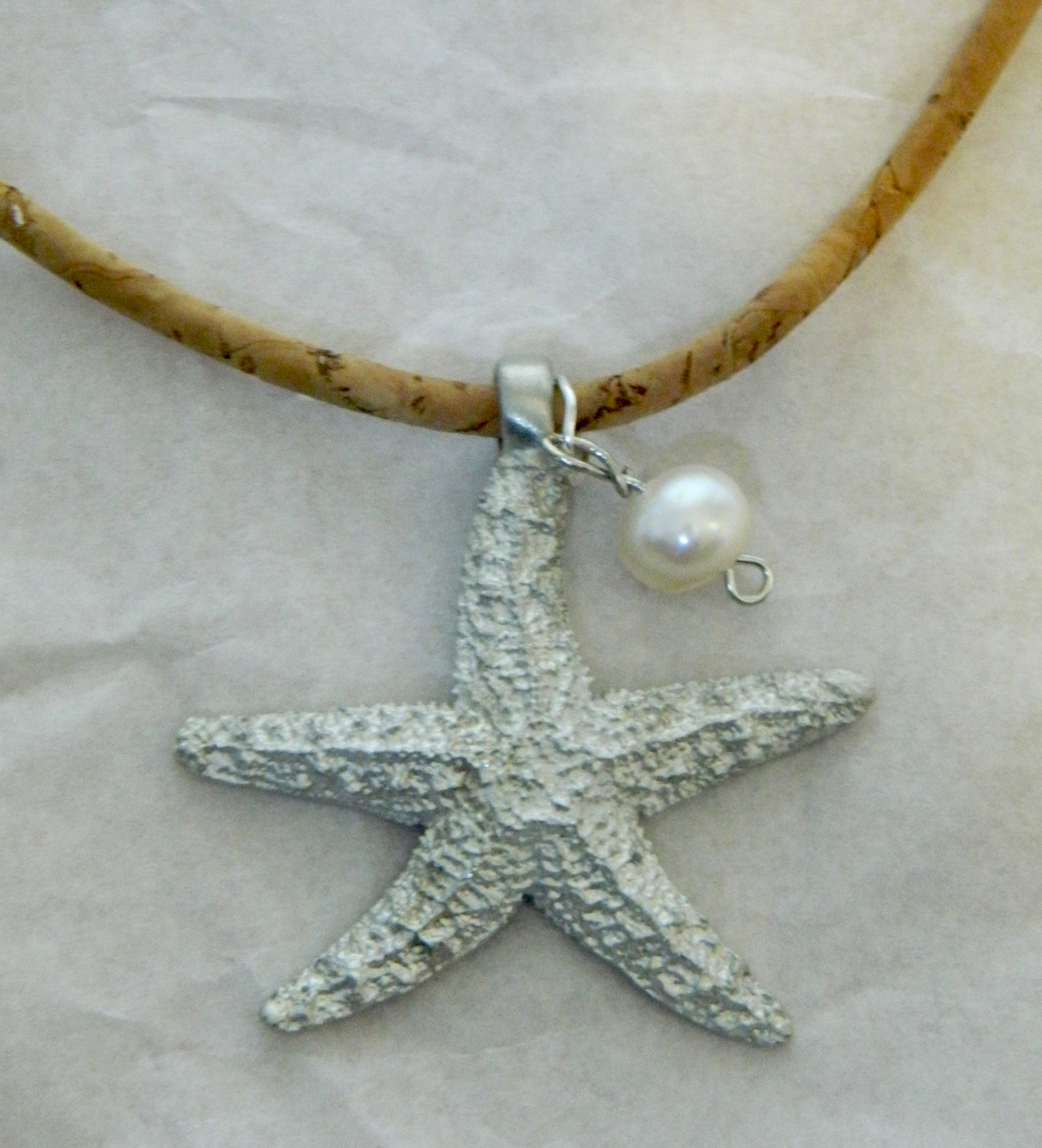 Pewter Sugar Starfish with Pearl
