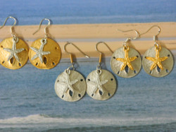Sand Dollar and Starfish Earrings