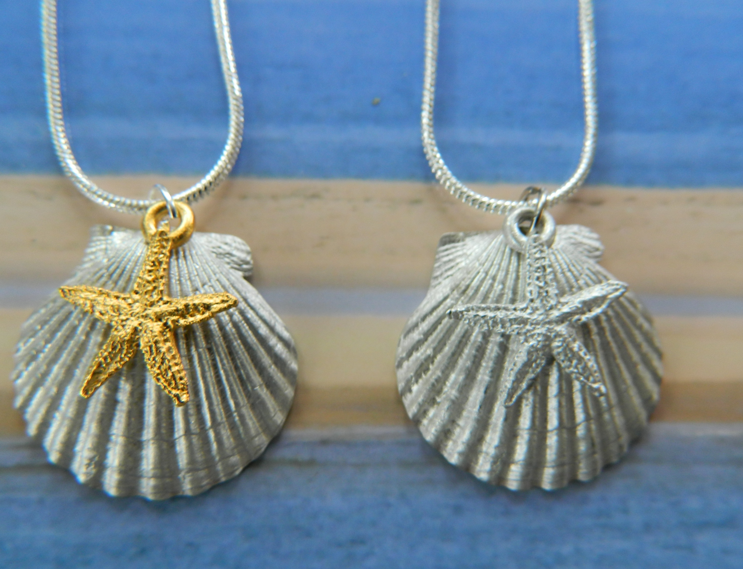 Scallop and Starfish Necklace