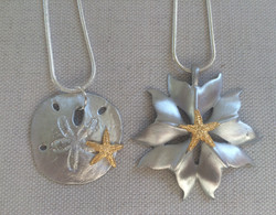 Gold Plate Starfish on Necklace