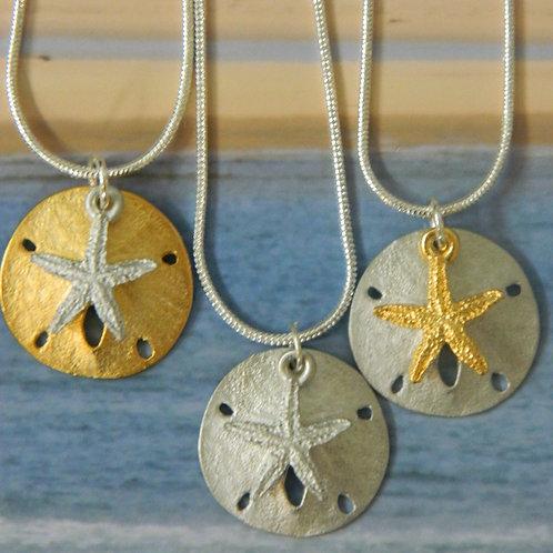 SAND DOLLAR SEA STAR NECKLACE