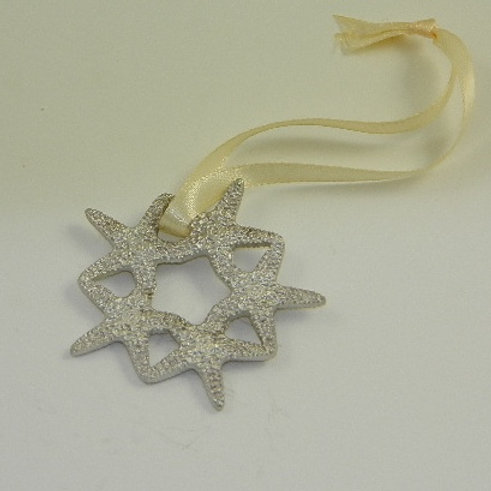 PEWTER STARFISH WREATH ORNAMENT