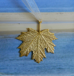 Gold Plate Over Pewter Maple Leaf
