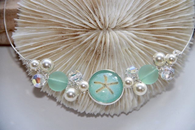 Cluster Necklace with Starfish