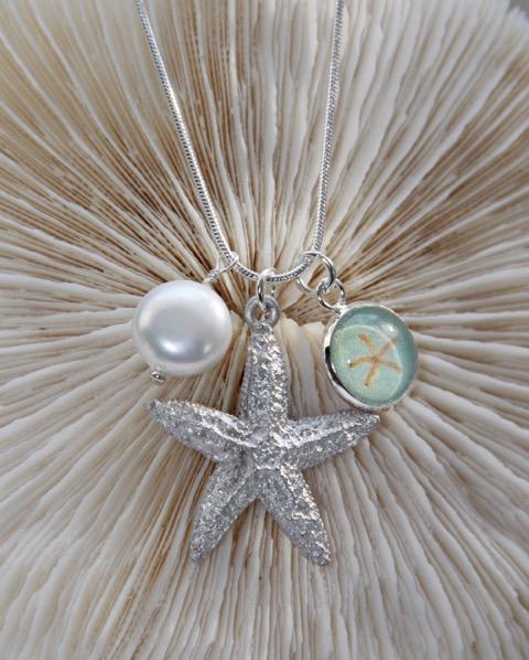 FP927 Star Pendant, Star & Pearl