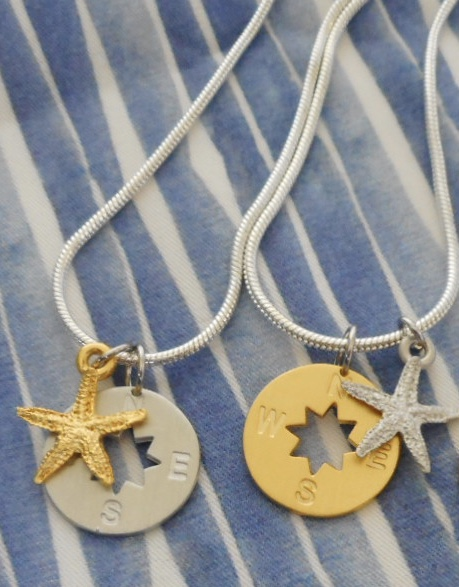 Mini Compass Rose/Star Necklaces