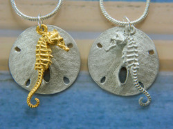 Sand Dollar and Seahorse Necklace