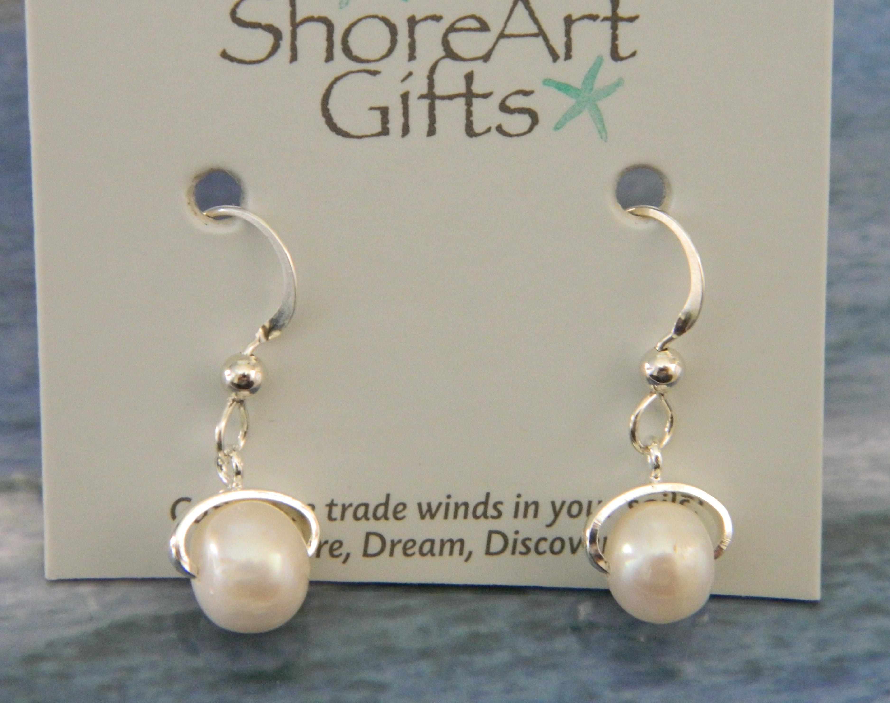 Freshwater Pearl Earrings on Silver