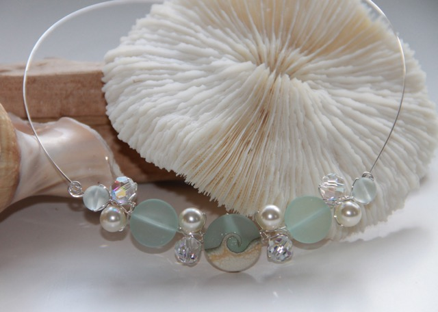 FP925 Seafoam Cluster Necklace