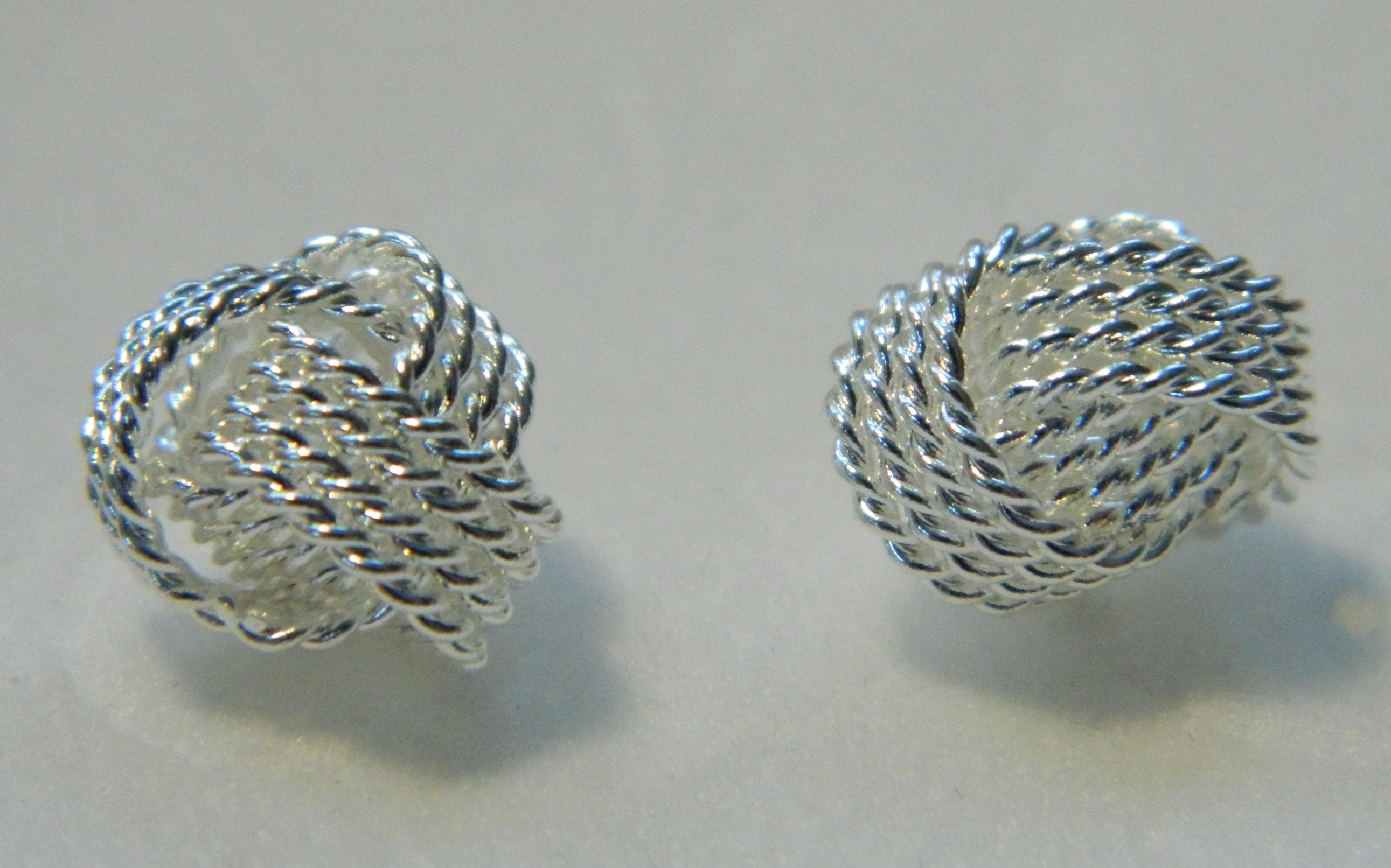 Silver Sailors Knot Earrings