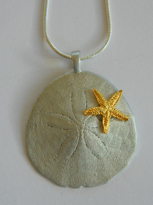 NEW ENGLAND SAND DOLLAR NECKLACE