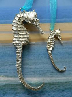 Pewter Seashorses