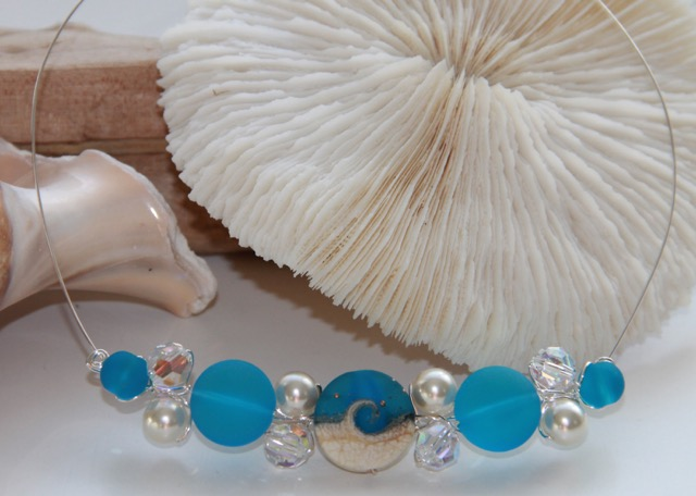 FP924 Turquoise Cluster Necklace