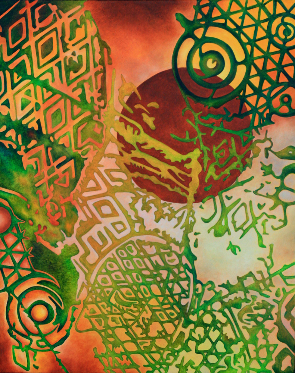 "REMNANTS No.4, Oil paint on canvas, 24"" x 30"", 2013"