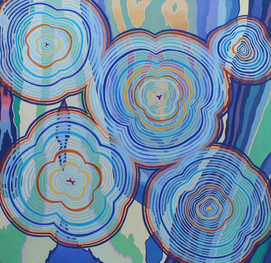 REVERBERATE, Oil paint on wood panel, 30.5 x 30.5 cm, 2020