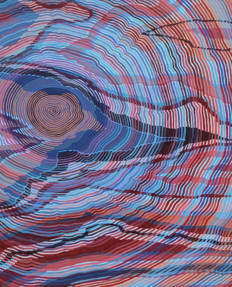 EMANATE, Oil paint on wood panel, 28 x 35.5 cm, 2019