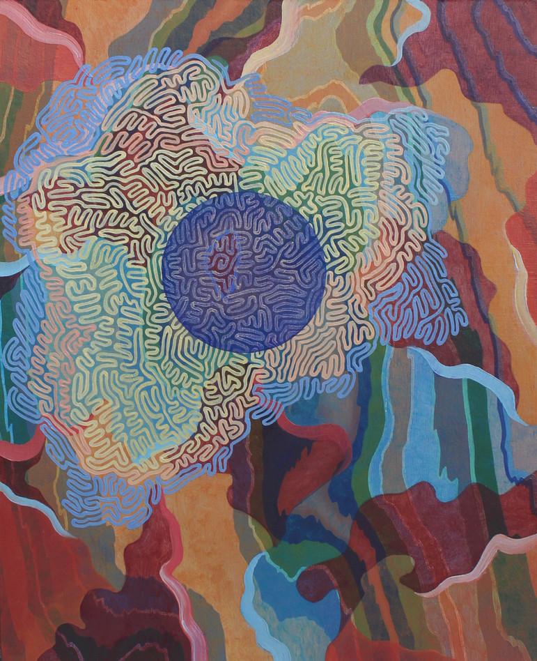 PONDER, Oil paint on wood panel, 20 x 25 cm, 2020