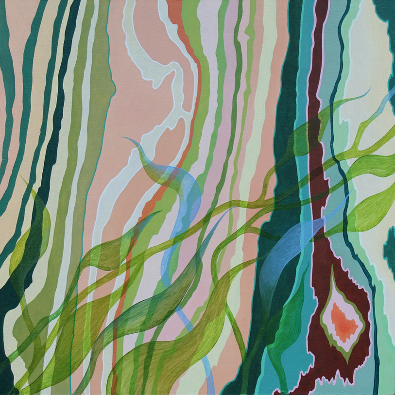 RENEW, Oil paint on wood panel, 30.5 x 30.5 cm, 2019