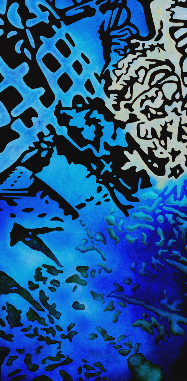 "REMNANTS No.3, Oil paint on canvas, 12"" x 24"", 2011"