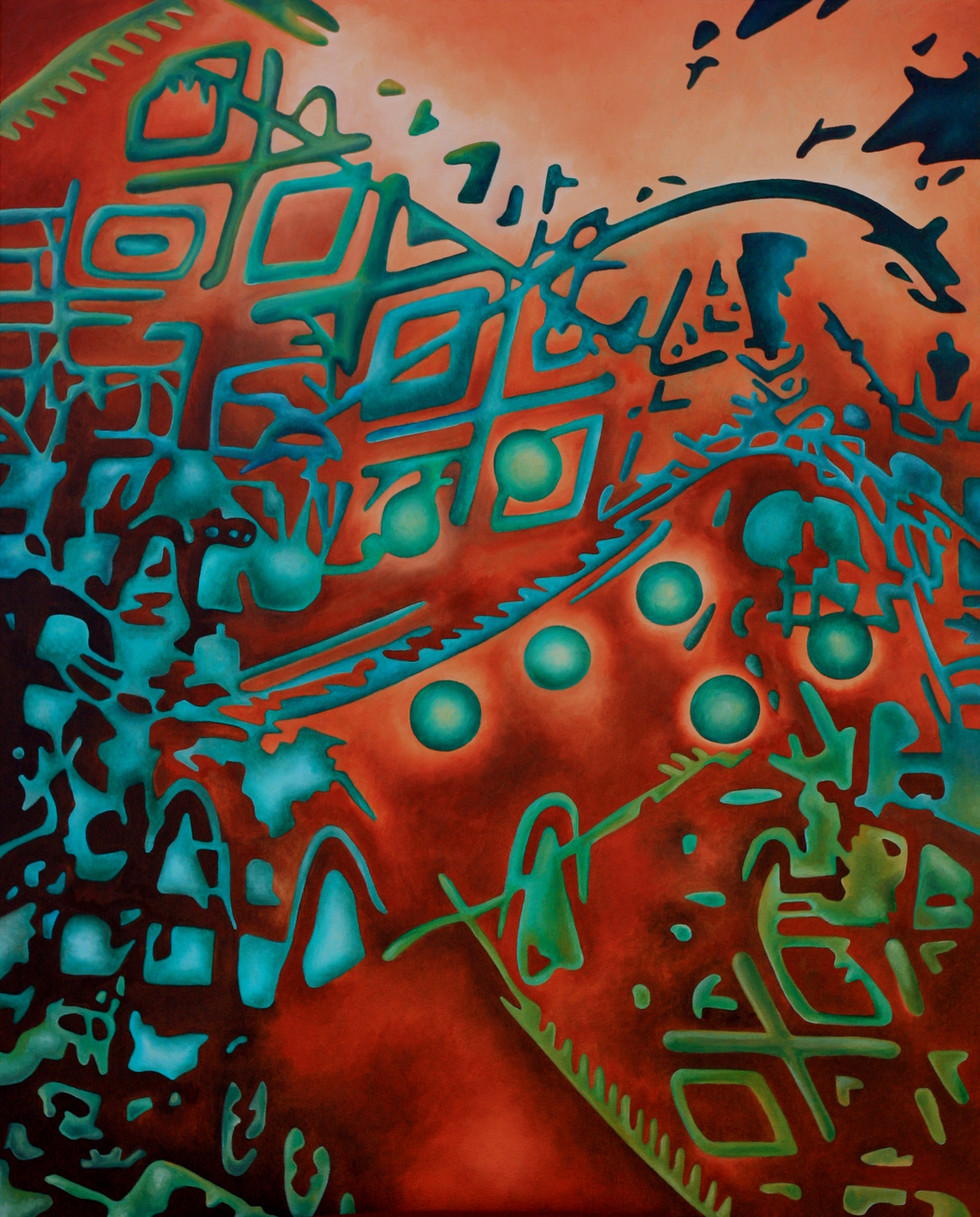 "REMNANTS No.5, Oil paint on canvas, 24"" x 30"", 2013"