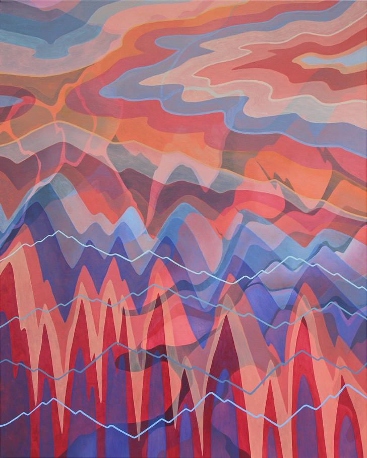 ELEVATE, 80 x 100 cm, Oil paint on canvas, 2019, (Available)