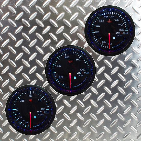 Combo 3 Manomètres Série PRO 3 | 52 mm | 150 Couleurs