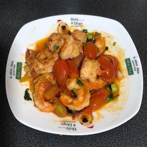 心豐食譜 (1) 鮮蝦佐小番茄