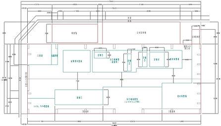 山口マシナリー 工場図面
