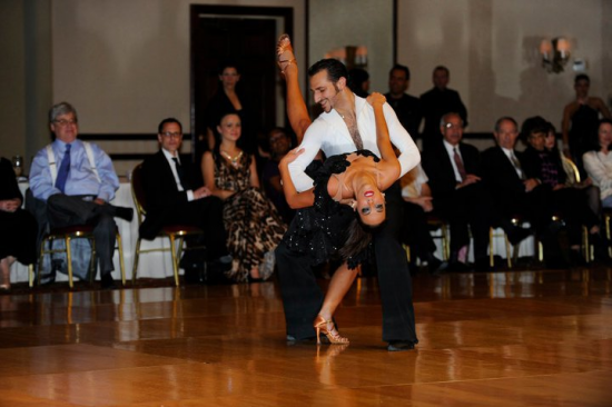 Prima Dancesport's Fadi Khoury and Kathryn Elders performa a Rumba Showdance